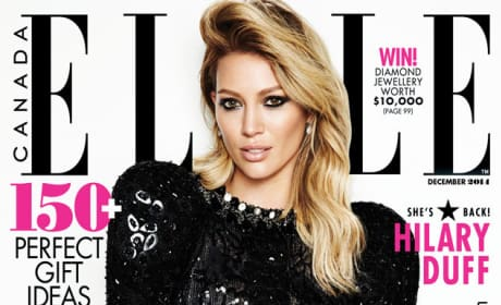 Hilary Duff ELLE Cover