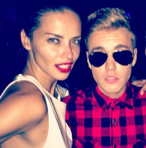 Adriana Lima and Justin Bieber