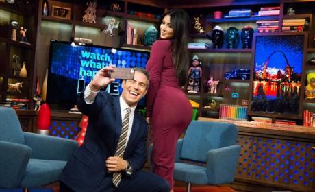 Andy Cohen and Kim Kardashian Selfie