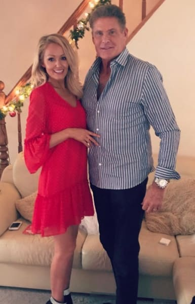 David Hasselhoff and Hayley Roberts on Instagram