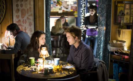 Kristen Stewart and Robert Pattinson in Breaking Dawn