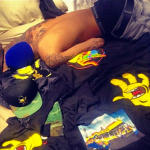 Chris Brown Shirtless in Bed