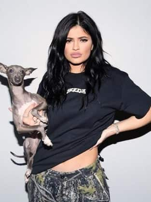 Kylie Jenner and Dog