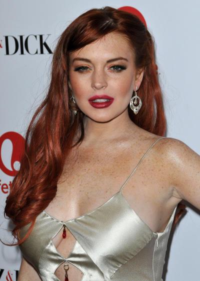 Lindsay Lohan at Liz & Dick Movie Premiere