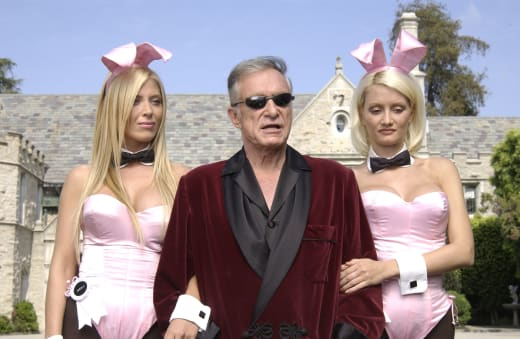 Holly Madison, Hugh Hefner, Sheila Levell