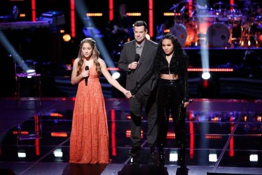 Brynn Cartelli, Carson Daly, Jamella on The Voice