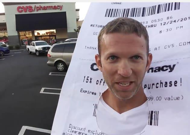 cvs receipt costume