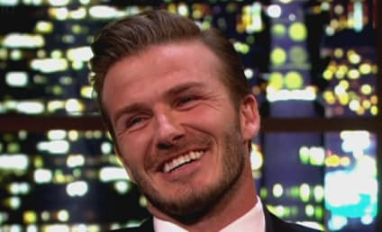 David Beckham Stretches, Dreams of Huge Breasts