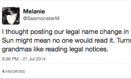Couple Changes Middle Names to Seamonster, Declines to Explain Why