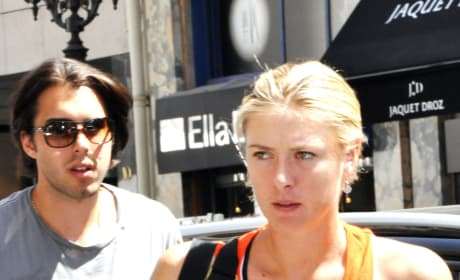 Sasha Vujacic and Maria Sharapova