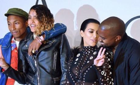 Kim, Kanye and Pharrell