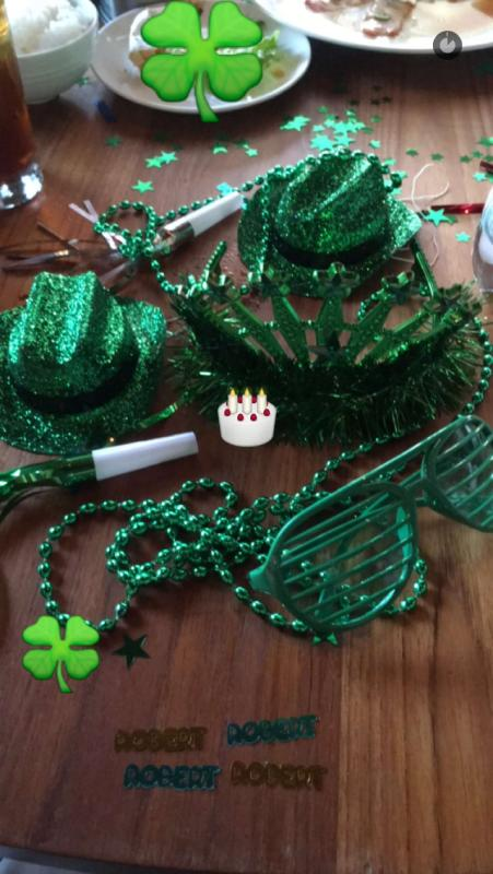 They had St. Patrick's Day party favors