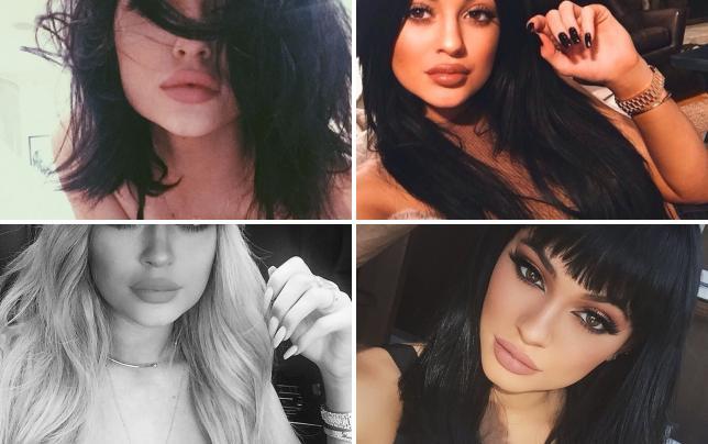 Kylie jenner pouts lips