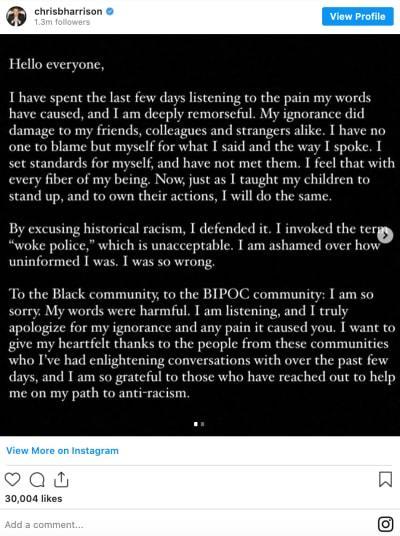 harrison statement