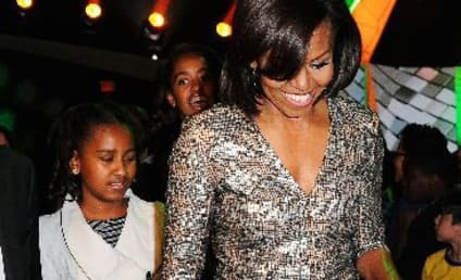 Michelle, Sasha and Malia Obama Attend Beyonce Concert