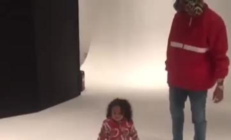 Chris Brown Dances with Daughter
