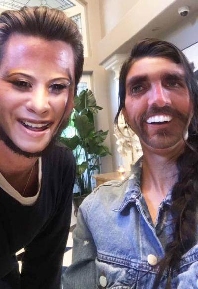 Kourtney and Scott Face Swap