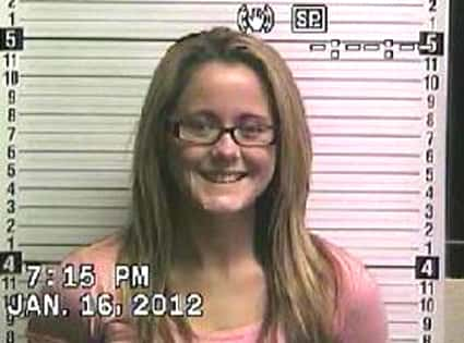 Jenelle Evans Mug Shot 2012