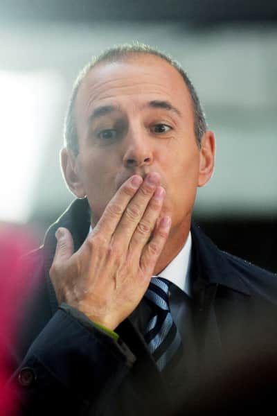 Matt Lauer Blows a Kiss
