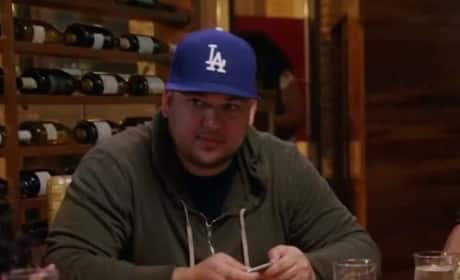 Rob Kardashian at Dinner