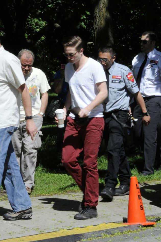 Robert Pattinson on Cosmopolis Set