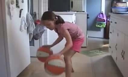 Little Girl Shows Off Insane Basketball Dribbling Skills