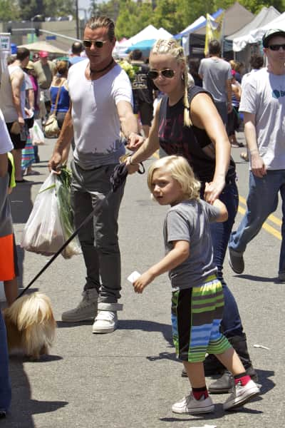 Gavin Rossdale and Mindy Mann: Studio City Farmers Market