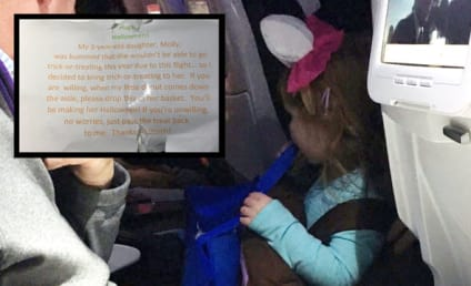 Heroic Father Enables Daughter to Trick or Treat on Board Airplane