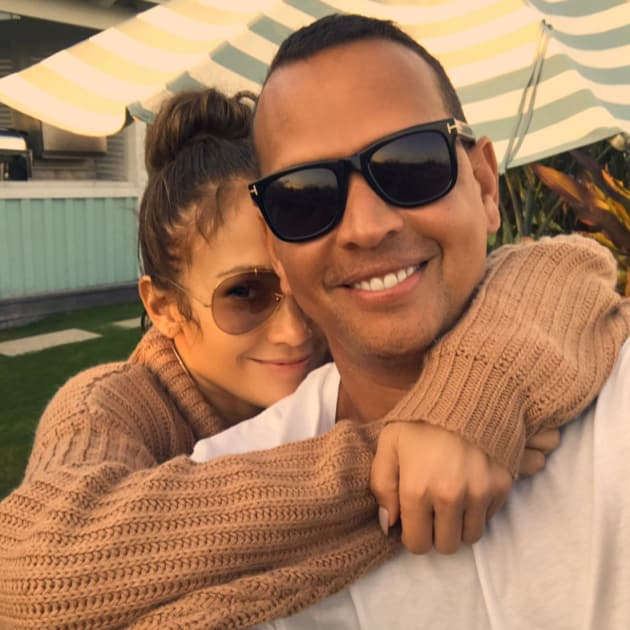 Alex Rodriguez and Jennifer Lopez on Instagram