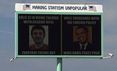 What do you think of the Obama-Holmes billboard?