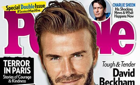 David Beckham People Cover