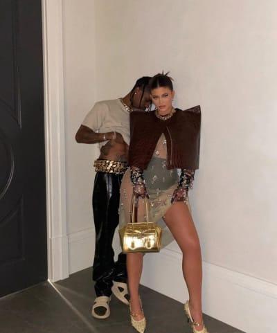 Kylie Jenner and Travis Scott Modeling