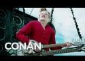 Conan O'Brien Makes Mad Max-Like Entrance to Comic-Con