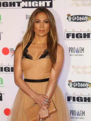 Jennifer Lopez in Beige
