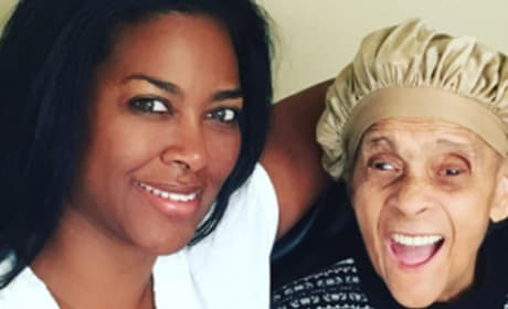 Kenya Moore with Grandma