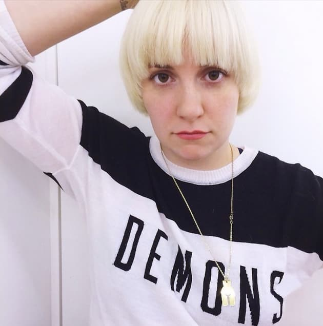 Lena Dunham Blonde Hair