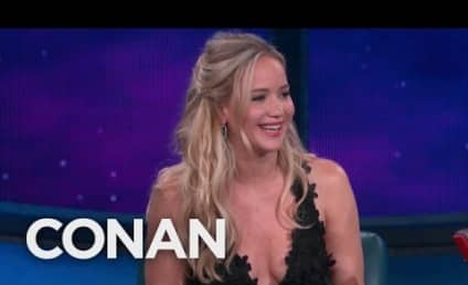 Jennifer Lawrence Makes Like Cher, Sings on Conan