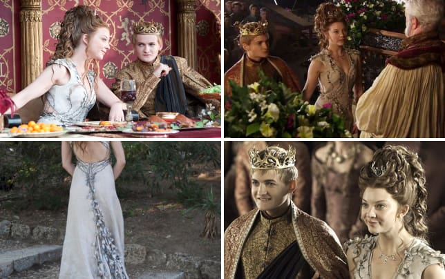 Margaery Tyrell And King Joffrey Game Of Thrones Purple Wedding Photos