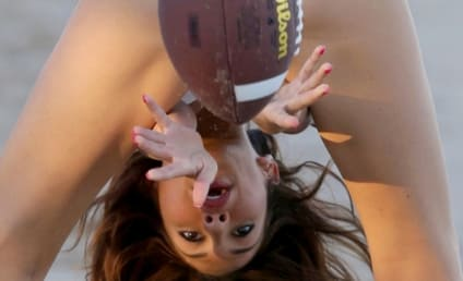 THG Caption Contest: Farrah Abraham Plays Football, Makes it Too Easy!