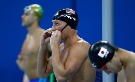 Ryan Lochte Bathing Cap Olympics Swimming Pic