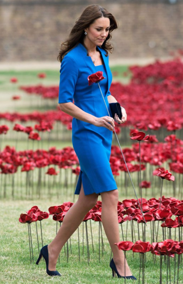 Kate Middleton in a Blue Dress