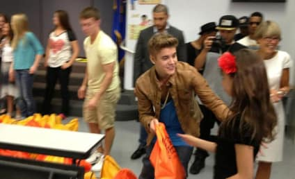 Justin Bieber Visits Elementary School, Makes Major Donation