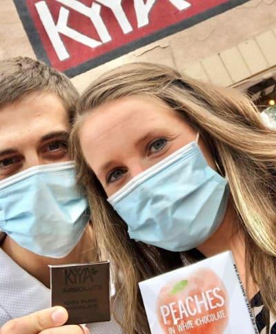 Jill Duggar and Derick Dillard in Masks