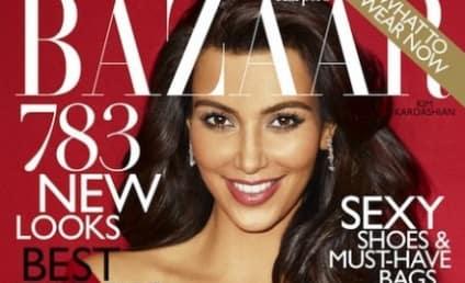 Kim Kardashian in Harper's Bazaar: Actually Clothed!