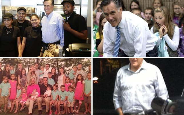 Chipotle worker poses with mitt romney