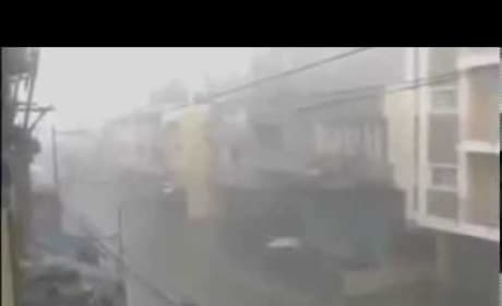 Philippines Typhoon Footage