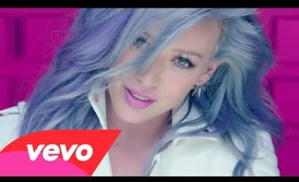 "Hilary Duff Rocks Blue Hair in ""Sparks"" Music Video"