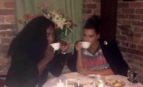 Serena Williams, Kim Kardashian Photo