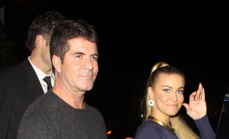 Simon Cowell and Carmen Electra