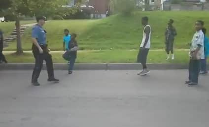 Cop Challenges Neighborhood Kids to Dance-Off, Does Not Prevail